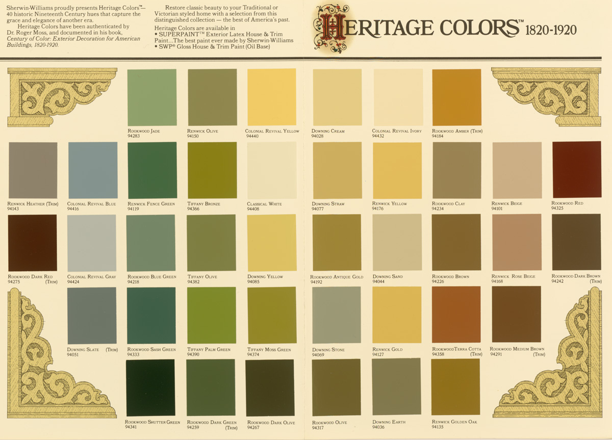Sherwin–Williams: Heritage Colors